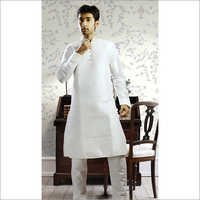 Men's White Kurta Pajama