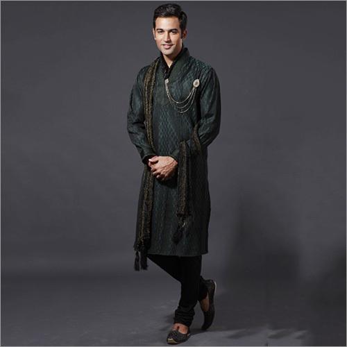 Black Pathani Kurta Pajama