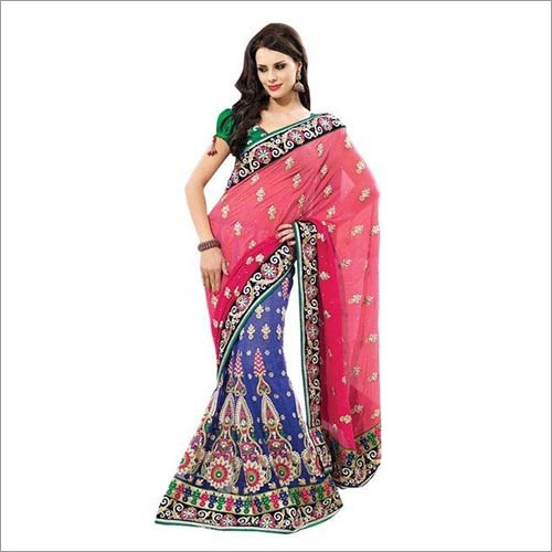 Dual Shaded Embroidered Sarees