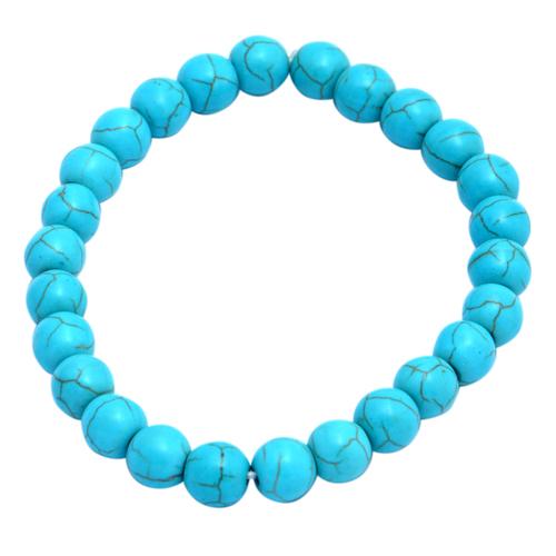 Turquoise Stretchable Gemstone Bracelet