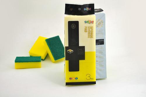 green sponge scouring pads