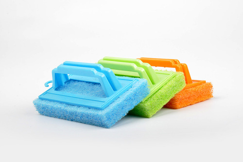 scouring pads with handle