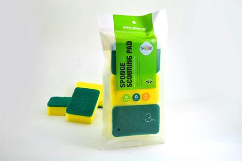 Yellow Sponge Scouring Pads