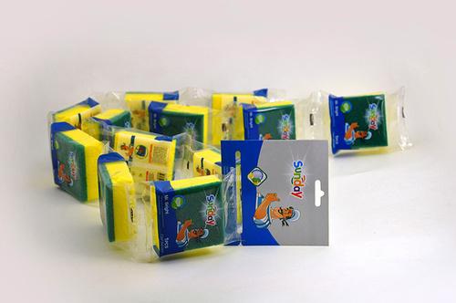 Blister Packed Sponge Scouring Pads