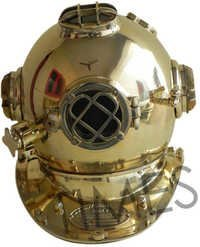 Antique Diving Helmet Brass Shine