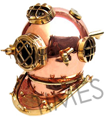 Antique Copper Shine Brass Diving Helmet