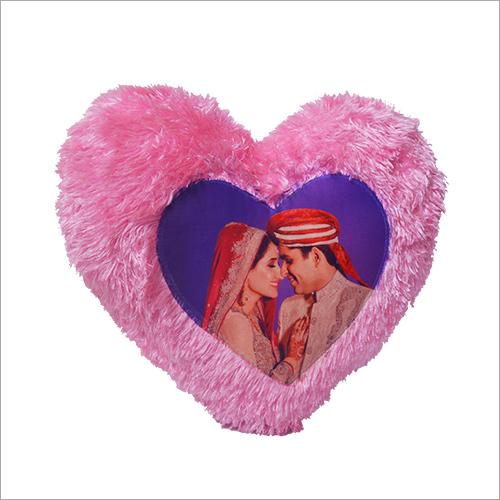 Pink Heart  Fur Cushion