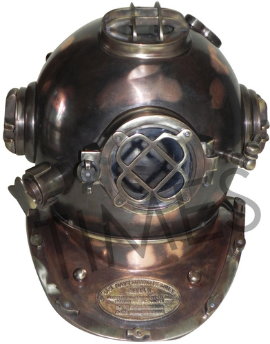 Antique Black Diving Helmet