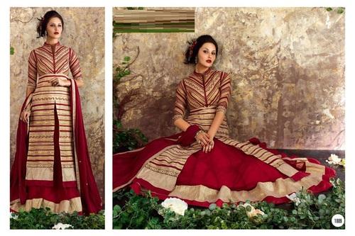 Buy Designer Shervani Style Lehanga Suit Online