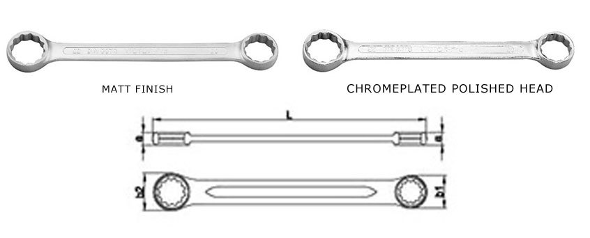 Double Ended Ring Spanners Straight