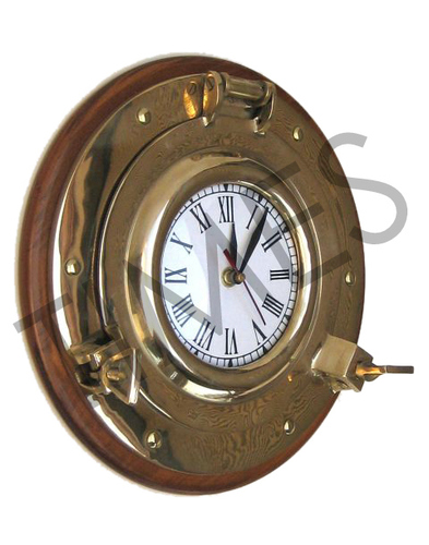 Nautical Wall Clock Brass