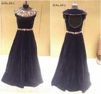 Buy Designer Velvet Long Gown Online