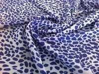 Printed Blue Chiffon Fabric