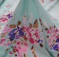 Chiffon Floral Print Fabric