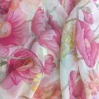 Poly Chiffon Floral Print Fabric