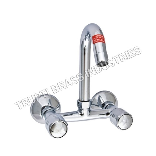 Wall Mixer Sink With Swivel J Spout