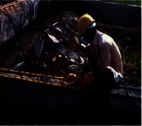 Application of IPN protective coating