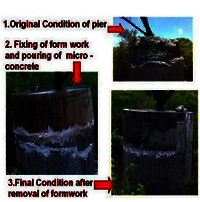 Sectional reconstruction by micro concrete