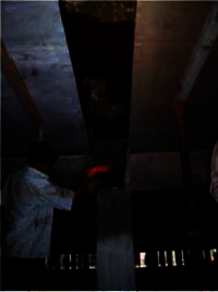 Applying second coat and sand pasting