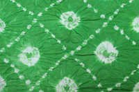 Lime Green Cotton Bandhej Fabric