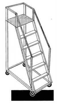 LADDER STEP TROLY