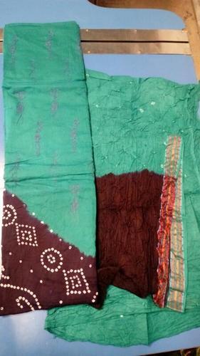 Cotton Bandhani Dress Materials
