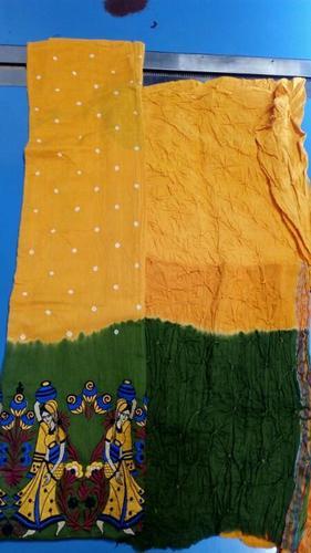 Bandhani Work Dress Materials