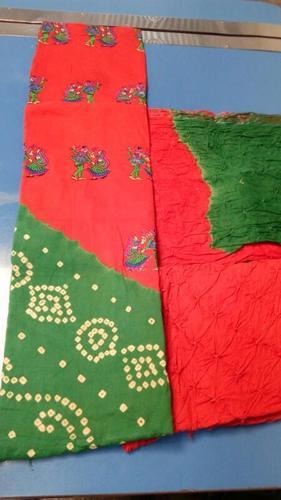 Bandhani Work Dress Materials Jetpur