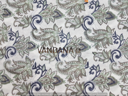COTTON VOILE FABRIC HAND DYED HAND BLOCK PRINT FABRIC
