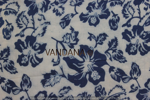 Hand Dyed Hand Block Print Fabric 60/60 Printed Fabric For Garments And Craft