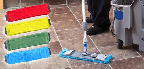 Colour Coded Microfiber Dry Mop Set