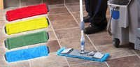 Colour Coded Microfiber Dry Mop Set