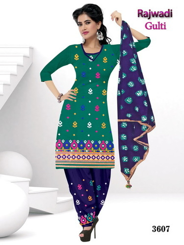 Cotton Salwar Kameez Unstitched