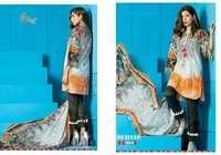 Cotton Dress Materials With Chiffon Dupatta