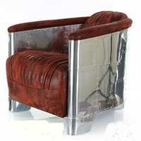 LEATHER ARMCHAIRS SOFA AVIATOR CHAIR