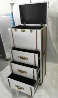 Aviator chest Trunk box with drawer