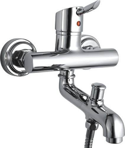 Bathroom Single Lever Wall Mixer With Tele. Shower