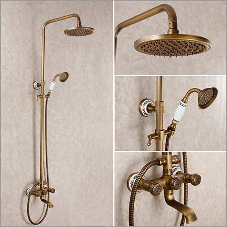 Brass Bathroom Rain Shower Set