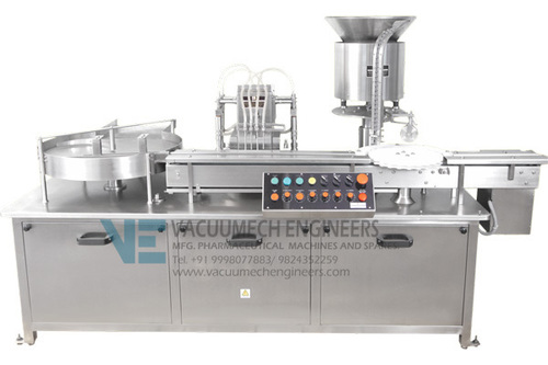 Vial Liquid Filling Rubber Stoppering Machine