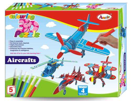Colouring 3D Puzzle AIRCRAFT