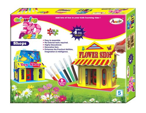 Colouring 3D Puzzle SHOPS
