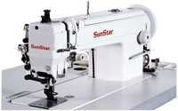 High Speed,1-Needle, Upper and Lower Feed, Lock Stitch Sewing Machine with Vertical Large Hook