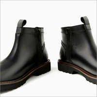 Mens High Neck Black Shoes