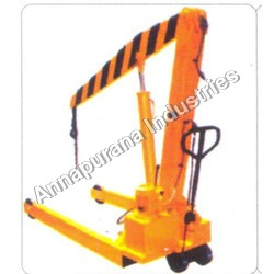 Hand Operating Hydraulic Mobile Floor Crane