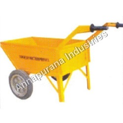 Double Wheel Barrow with Plastic and Rubber Wheel