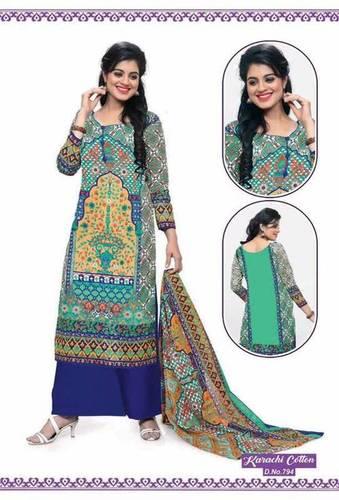 Karachi Long Cotton Salwar Kameez
