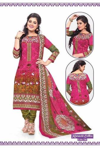 Karachi Long Unstitched Dress Materials