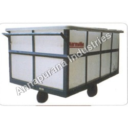 Plastic Box Trolley with Container