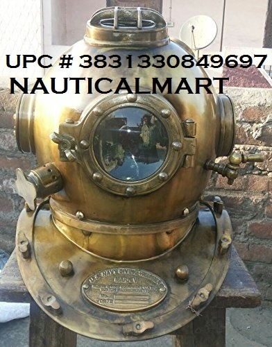 Nauticalmart Scuba Diving Diver Helmet in Antique Finish- Free 12
