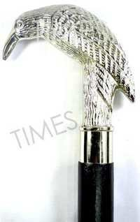 Nautical Brass Bird Handle Walking Stick